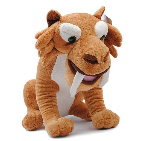 Free Shipping 2013 New Ice Age Saber-toothed Tiger Diego Plush Stuffed Toys Carton Dolls 71914(China (Mainland))