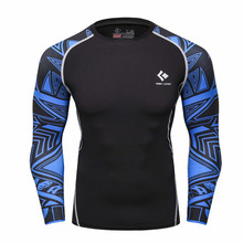 Buy Men Compression Shirts MMA Rashguard Keep Fit Fitness Long Sleeves Base Layer Skin Tight Weight Lifting Elastic Mens T Shirts for $8.76 in AliExpress store