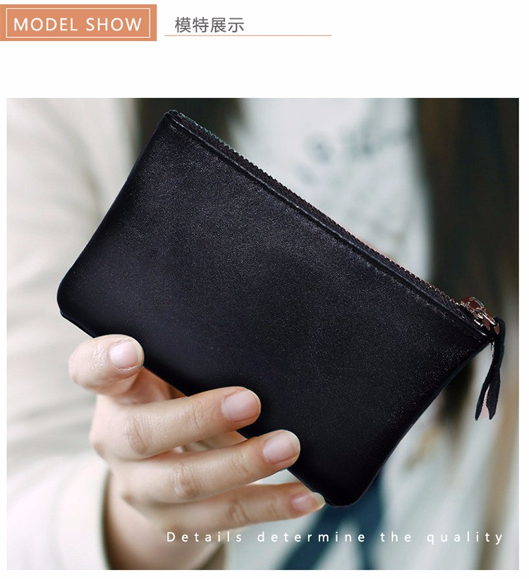 genuine leather wallet purse women coin (5)