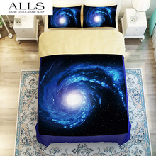 Galaxy Bedding Set Close to Galaxy Realize Your Dream Easier Duvet cover/pillow case Twin Single Full queen king size(China (Mainland))