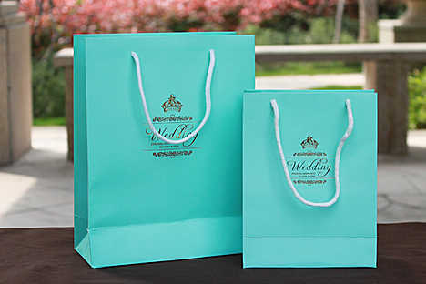 Personalized Wedding Favor Bags And Boxes : 2015 Tiffany Blue DIY Gift Wedding Favor Bag Logo Personalized Hot ...