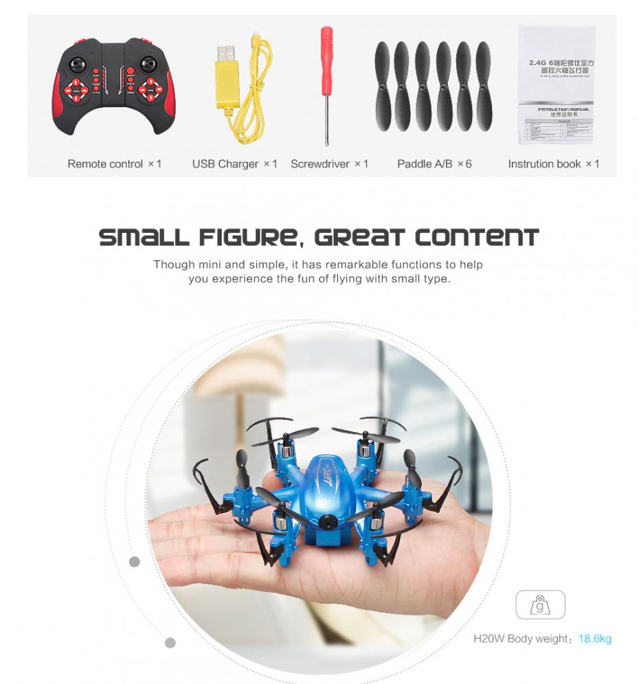 Mini Wifi Fpv Drones 6 Axis Rc Dron Jjrc H20w Quadcopters With 2mp Asus A6rp Laptop Block Diagram Minihexacoper Camera 1 X 37v 280mah Battery Transmitter Usb Cable Xscrewdriver Propeller Manual Xlmodel Photo 0000