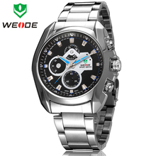 Hot Sale 30 Meters Waterproofed WEIDE Luxury Brand Mens Diver Analog Sprots Quartz Wrist Watch Fashion