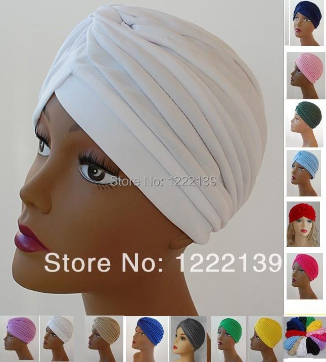 30pcs/lot Turban Head Wrap Band Hat Headband Chemo Bandana Classic Arabic India Muslim Women's Turban Cap(China (Mainland))