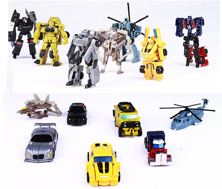 7pce/set high quality Transformation robot .10cm anime action figure robot car . kids toy.brinqedos,juguetes.car-charger(China (Mainland))
