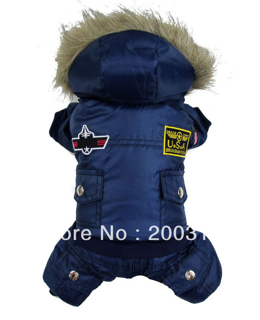 New Blue Thick Air Man style pet dogs winter coat Free shipping dogs clothes