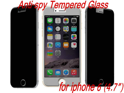 100pcs/lot Anti-spy Explosion Proof LCD Clear Premium Tempered Glass Screen Protector Protective Film Guard For iPhone 6 4.7