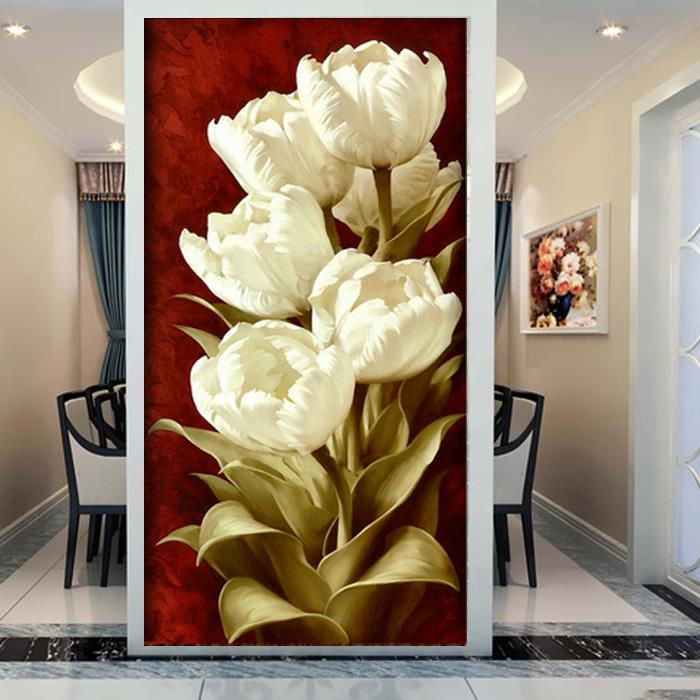 Buy 3d entrance hallway mural white for Decorative mural painting