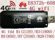 Unlocked Huawei E8372h-608 4g 3g usb wifi modem 3g 4g usb stick E8372 lte 3g 4G Wifi router 4G mifi Modem PK E8278 e8377 w800z(China (Mainland))
