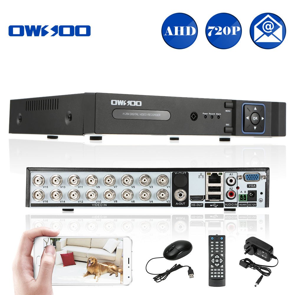 OWSOO 720P AHD DVR 16CH H.264 P2P Network DVR CCTV Security Phone Control Motion Detection Email Alarm for Home Security Camera(China (Mainland))