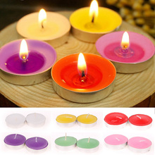 Romantic 10pcs Wide scented Tealights Party Wedding Tea Light Candles #73339(China (Mainland))