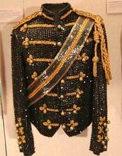 XS-6XL cool 2016 new Michael Jackson new dance stage costumes uniforms concerts Moonwalk Slim personality sequined suit jacket