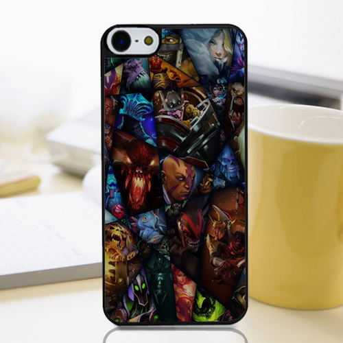The Heroes of Dota 2 Collage Gorgeous Customized Hard Plastic Protective Phone Cover Case for Iphone 4 4s 5 5s 5c 6 6+(China (Mainland))