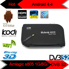 2016 Android TV Box V8 Plus DVB-S2 Satellite TV Receiver Amlogic S805 1G/8G Quad Core HD Support CCCam Newcam XBMC Wifi