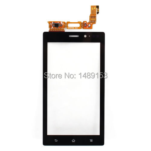 For Sony Xperia MT27i MT27 MT27a Sola Pepper New Black Front Outter Digitizer Touch Screen Glass Panel Lens Replacement