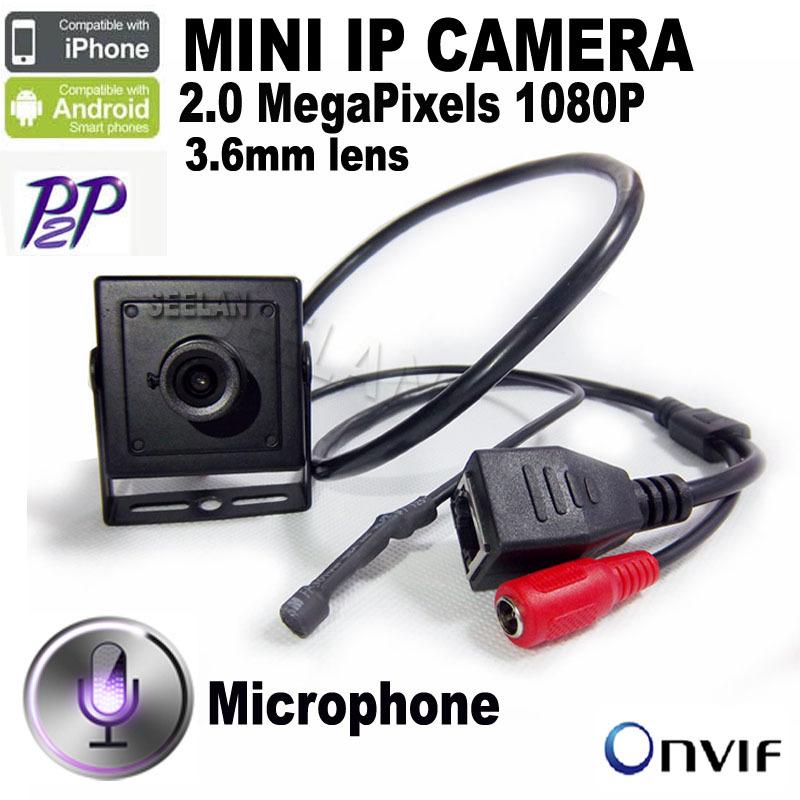 1080P camera ip mini HD 2MP IP Audio video camera 2.0 megapixel IP Mini ip camera H.264 microphone camera P2P network(China (Mainland))