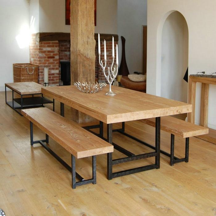 Madera americano vintage mesas y sillas de comedor hierro - Sillas de forja para comedor ...