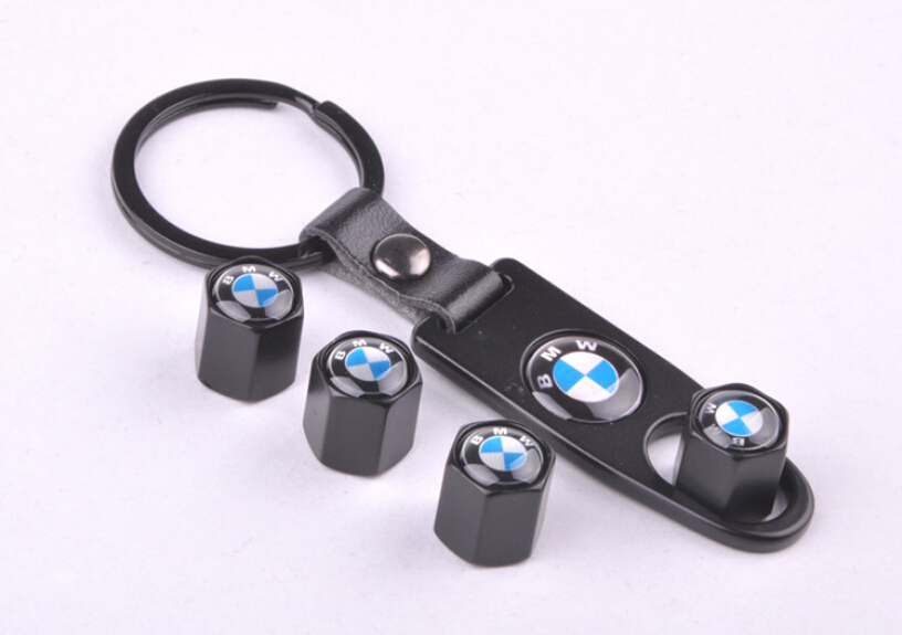 M Power Car Wheel Tire valve caps for BMW 1er 3er 5er 6er M3 M5 M6 4pcs caps with 1 pcs wrench Key Chains for BMW Free shipping(China (Mainland))