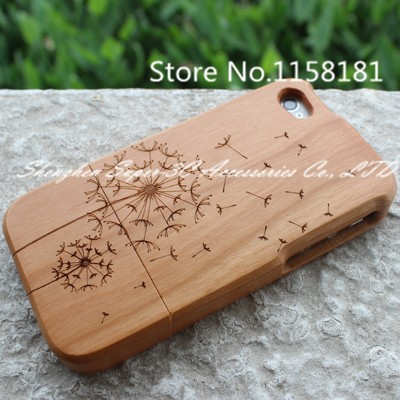 100% Real Natura cherry Wooden for Tree hard Back Shell case cover for iPhone 6S 6 S wood case,SKU 023C3C Phone Bags