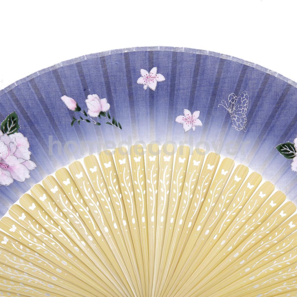 Chinese Peony Flower Folding Bamboo Asian Pocket Hand Fan Dancing Wedding(China (Mainland))