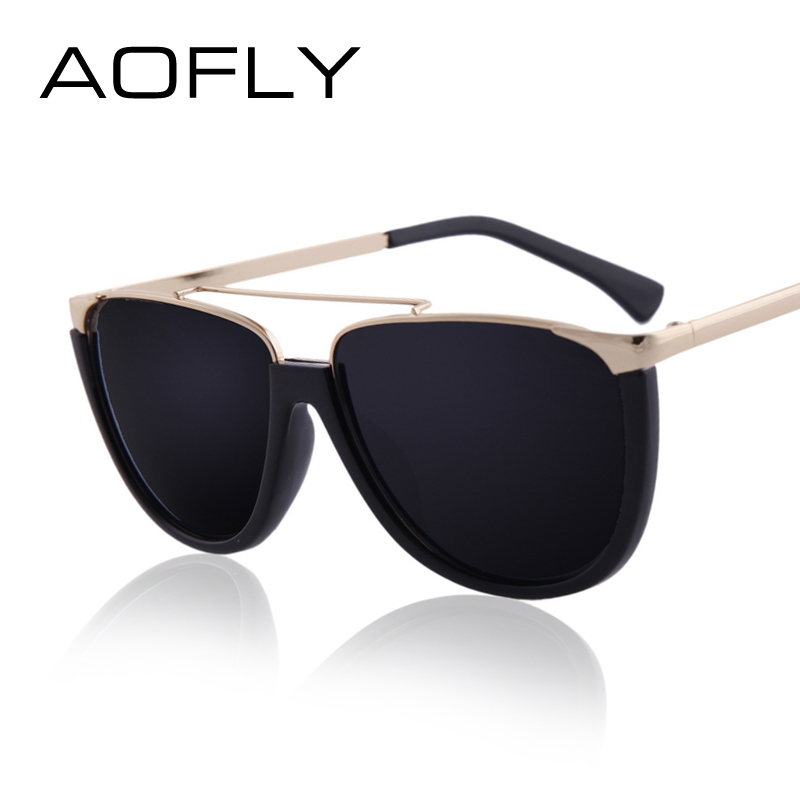 Best Metal Frame Glasses : Aliexpress.com : Buy AOFLY NEW Flat Top Shield Shape ...