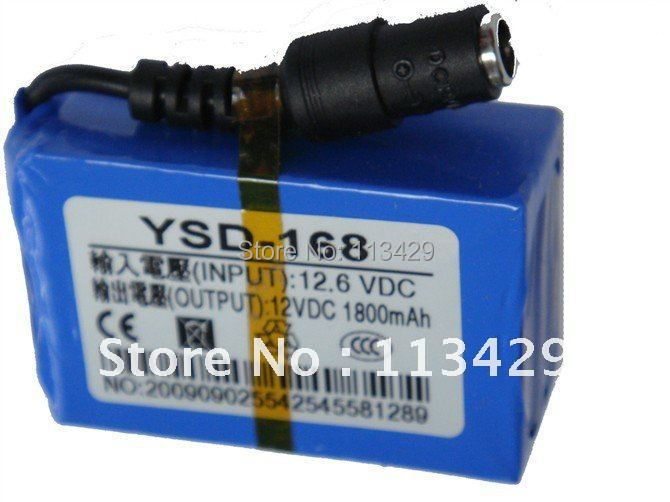 New Super DC 12V 1800mAh Rechargeable Lithium-ion Battery Pack For CCTV Camera(China (Mainland))