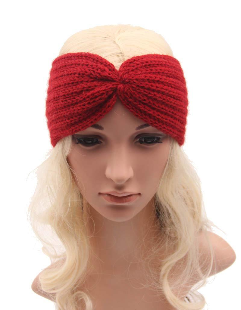 12 pcs/lot Fashion Warm hand knitting Women Headbands Autumn Winter Female Bohemian knot hair band Headwrap Accessories(China (Mainland))