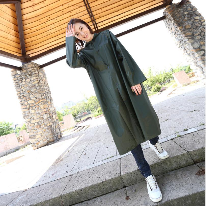 Military Raincoat Dark Green Long Rain Coat For Men Women Outdoor Rain Gear Impermeable Militar Capa De Chuva Chubasquero(China (Mainland))