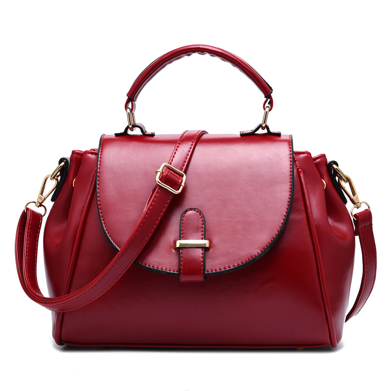 Bags Handbags Women Famous Brands 2016 Fashion High Quality Wine Red PU Leather Designer Handbag Ladies Crossbody Shoulder Bags(China (Mainland))