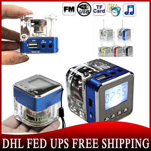 20pcs TT028 Mini Portable Speaker Micro SD/TF Music MP3 Player USB Disk FM Radio Blue(China (Mainland))