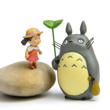 Miyazaki Toy My Neighbor Totoro Mei Bag Anime Cartoon Resin Action Figure Model Kids Toys Moss micro landscape Resin Craft Gift