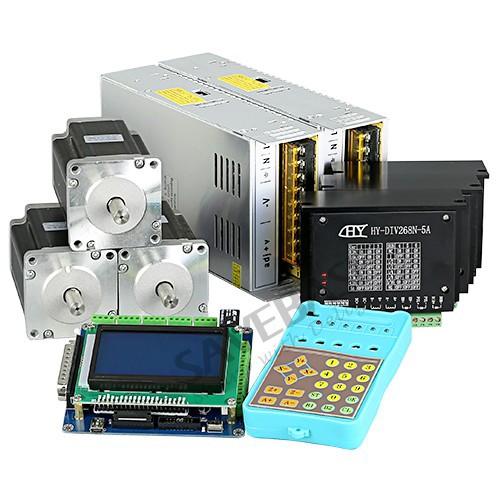 3 Axis CNC Kit TB6600HG Controller 4Nm Nema24 Motor Professional Card G-code Rec(China (Mainland))