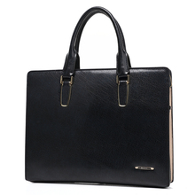 High Quality Men Briefcases Business Handbags Leather Laptop Shoulder Bags Head Layer Cowhide Genuine Leather Men's Travel Bags(China (Mainland))