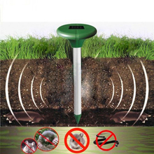 Solar Power Ultrasonic Gopher Mole Snake Mouse Pest Repeller Control for Garden with LED Light Free Shipping PTCT(China (Mainland))