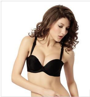 Strapless bra gather a Seamless underwear invisible chest paste wedding dress small chest slip cup