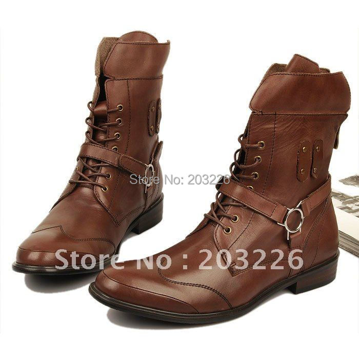 2012 British high help winter boots men boots fashionable tide short boots old Martin boots<br><br>Aliexpress