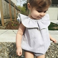9M 5T Baby Girls Bodysuits 100 Cotton Cute Dot Print Casual Shirt For Summer Infant Rompers