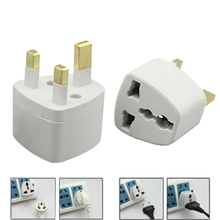 2015 New US/EU to UK AC Power Plug Travel Converter Adapte White 1N25