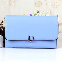 Korean Style Envelope Clutch Bag Women Leather Handbags High Quality D Letter PU Leather Shoulder Messenger Bags Wristlets