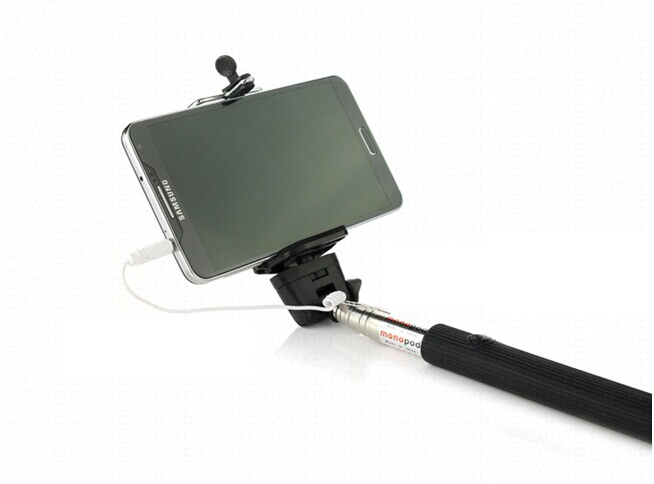 New Wired Selfie Stick Extendable Handled Telescoping Sticks Adjustable Phone Holder Built-in Remote Shutter for Phones