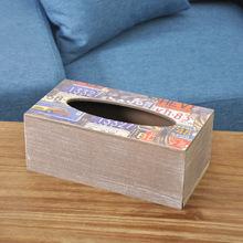 Zakka продукты главная ежедневно творческий ткани накачки лоток деревянный ящик для хранения с ткани коробка старинные автомобили делать