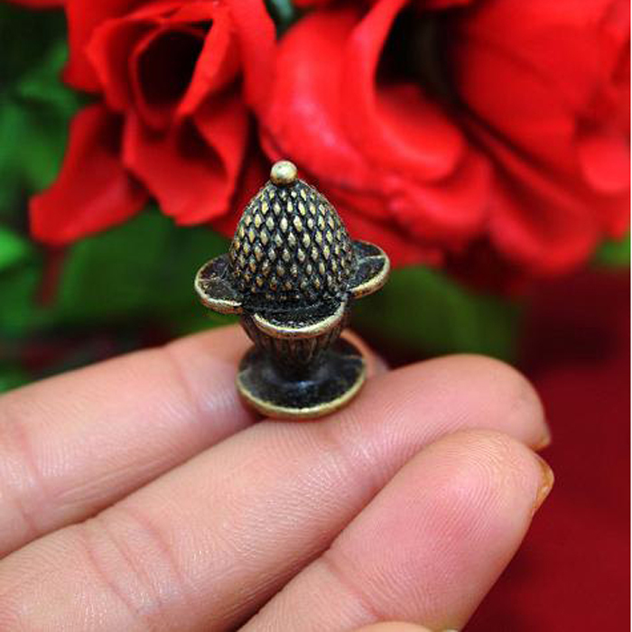 25*18mm Antique strawberry Cone Mini Jewelry Box wooden cases Knobs Small Dresser Cabinet Closet Pull Knob Furniture Pull Handle(China (Mainland))