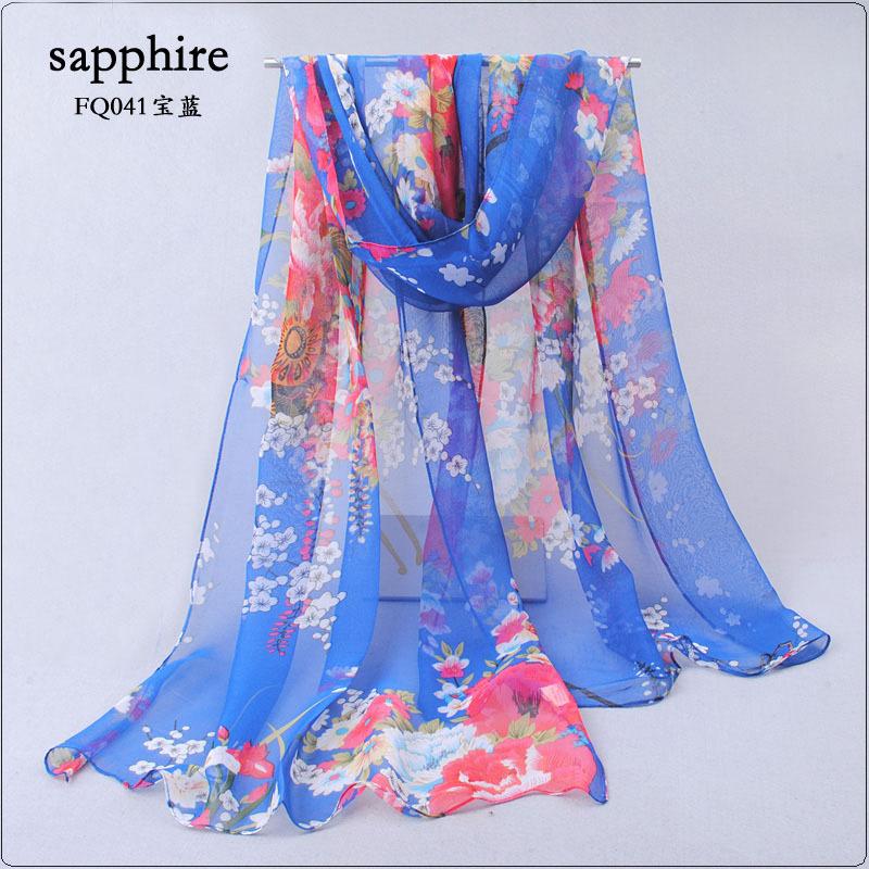 2014 spring and autumn female elegant silk long design silk scarf sweet women's scarf sunscreen(China (Mainland))
