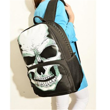 Buy 2016 Fahsion Pretty Women Canvas Backpack Cool Punk Style Skull Female Back pack College Students Schoolbag;mochila escolar for $19.41 in AliExpress store