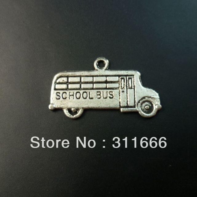 200 pcs/lot Bus tibet silver floating charms pendants Free shipping