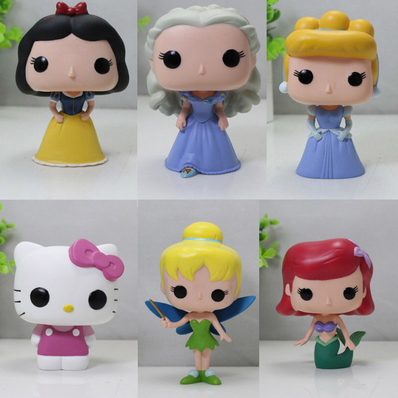 Funko POP The Little Mermaid Ariel Cinderella Snow white hello kitty Flower Fairy Tinker Bell action figure Collectible Model(China (Mainland))