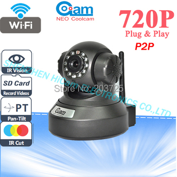 NEO COOLCAM P2P Plug Play 720P MegaPixel HD Wireless IP Camera with Pan/Tilt IR Night Vision and Support 32G TF Card IP Cam