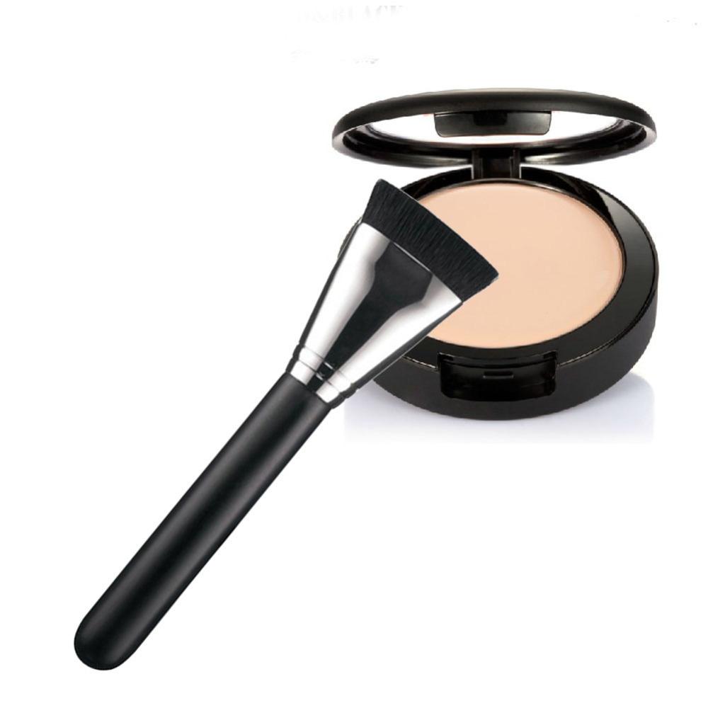 Pro Face Flat Contour Foundation Brush Makeup Brushes Beauty Brusher Wooden Handle pinceis de maquiagem