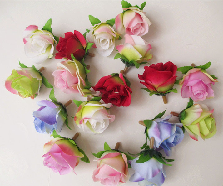 artificial flowers head Small rural small rose bud roses heart diy flower ball flower vine flower roses arches 3CM(China (Mainland))
