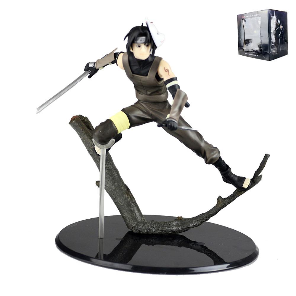 "Anime Naruto Shippuuden Uchiha Itachi Dark Ver PVC Figure 6"" Anime Collection Model Toy HY081(China (Mainland))"